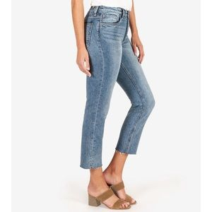 Kut from the Kloth High Rise Crop Mom Jeans
